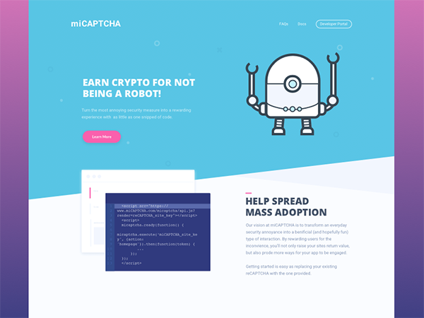 Crypto Landing Page Sketch Resource