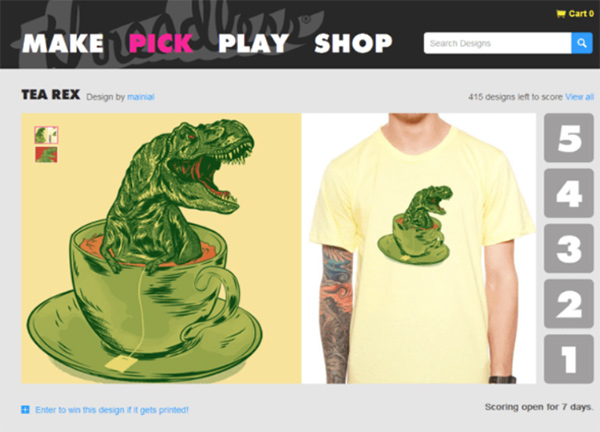 Gamification in Threadless