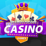 Top 5 Most Popular Casino Games infographic